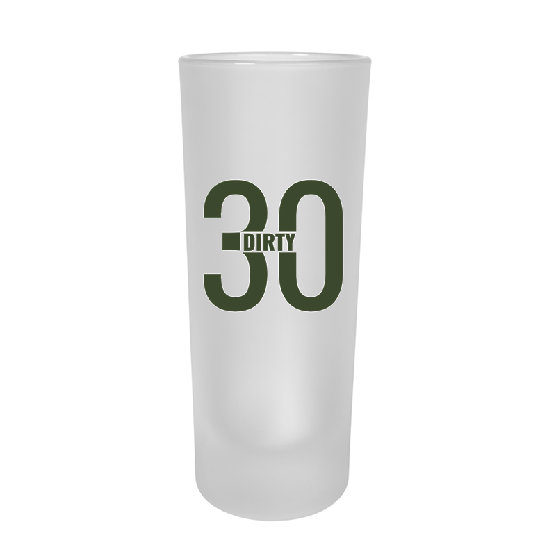 Custom Frosted Tall Shooter Glasses - 2 Oz.