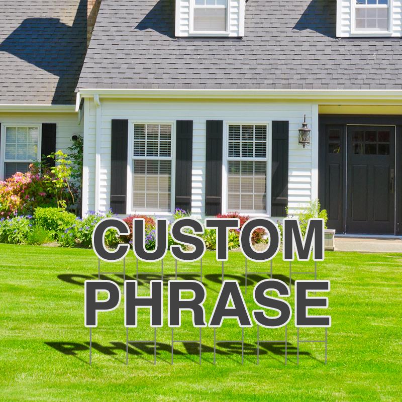 Custom Custom Your Own Yard Letters