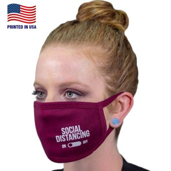 - Custom 100% Cotton 3-Layer Fabric Face Masks
