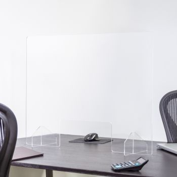 24 x 32 Inch Blank Protective Acrylic Counter Barrier