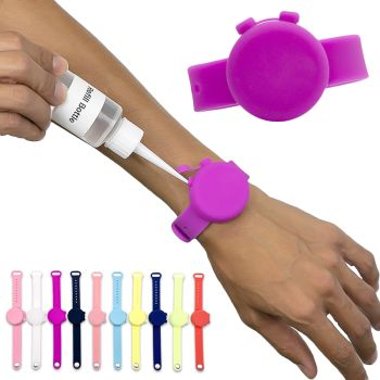 Customized Printed Hand Sanitizers - Adjustable Hand Sanitizer Dispenser Silicone Wristbands