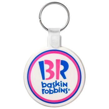Customized Printed Keychains - Custom Circle Soft Plastic Keychains