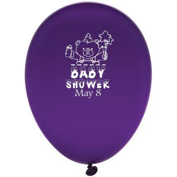 "Custom Printed Balloons - Custom Custom 12"" Latex Balloons"