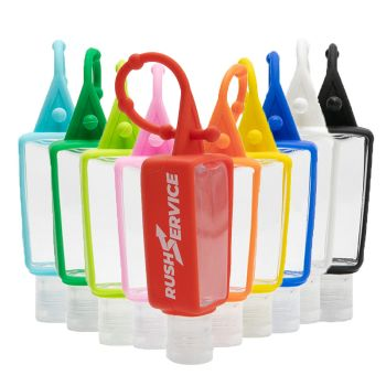 Custom Silicone Bottle Holders for 1oz Hand Sanitizers