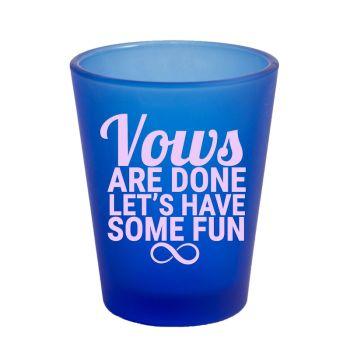 Shot Glasses Customized Cheap - Custom Customized Frosted Blue Shot Glass- 1.75 oz.
