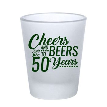 Personalized Shot Glasses - Custom Customized Frosted Shot Glass- 1.75 oz.