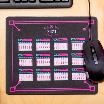 Fluorescent Neon 2021 Calendar Rectangle Mouse Pads