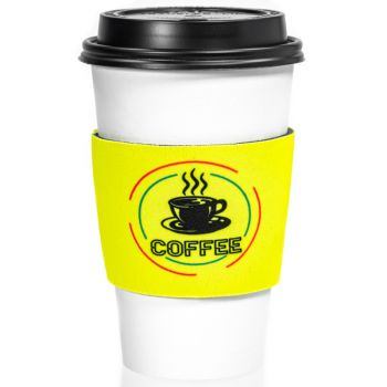 Fluorescent Neon Foam Collapsible Coffee Wraps
