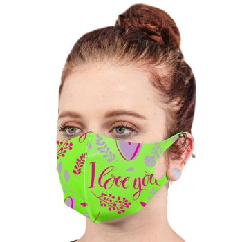 Fluorescent Neon Soft Fabric Reusable Face Masks