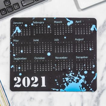 Full Color 2021 Calendar Rectangle Mouse Pads