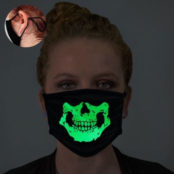 Halloween Skeleton Glow In The Dark Face Mask