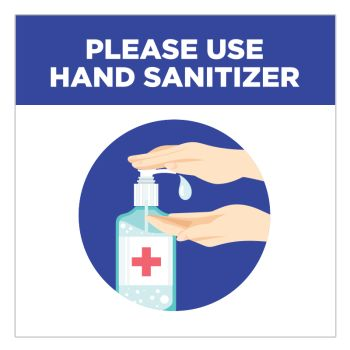 Please Use Hand Sanitizer Stickers