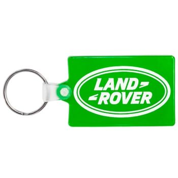 Cheap Custom Keychains - Custom Rectangle Soft Plastic Keychains