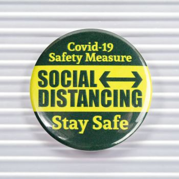 Safety Measure Social Distancing Pin Buttons
