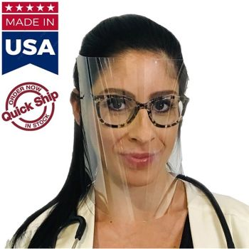 USA Made Reusable Face Shields With Adjustable Headband