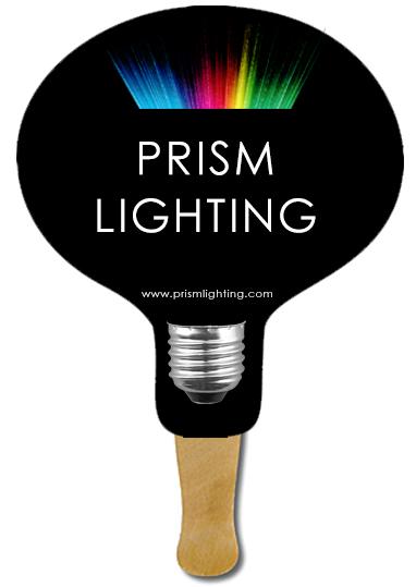 Custom Light Bulb Hand Fans