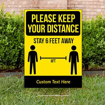 Social Distancing Yard Signs